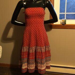 BANANA REPUBLIC bohemian strapless dress size 0